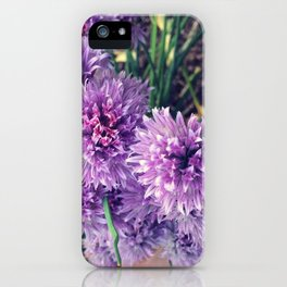 Chive Blossom Bouquet iPhone Case