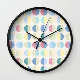 Retro . The pattern is polka dot . Wall Clock