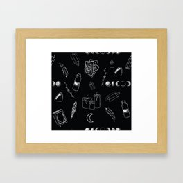 Witchy Stuff Black Framed Art Print