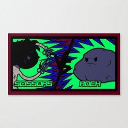 Scissors Vs Rock Canvas Print