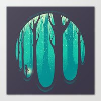 lonely Canvas Prints featuring Lonely Dream by Robson Borges