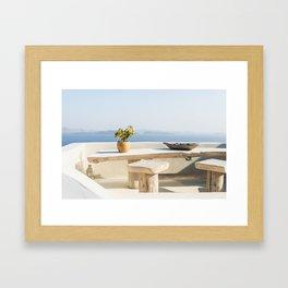 Santorini, Greece #society6 #decor #buyart Framed Art Print