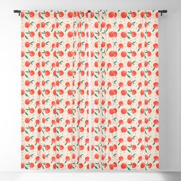 Peachy Keen Apples Blackout Curtain