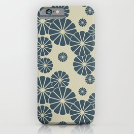 Blue Floral Japanese Pattern 2 iPhone Case