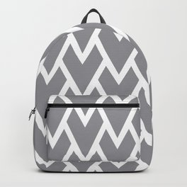 Abstract Heart - Arrow Head Shape Pattern 17 V1 Pantone 2021 Color Of The Year Ultimate Gray 17-5104 Backpack