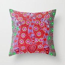 Australian Aboriginal Art - Christmas 2 Throw Pillow