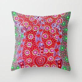 Australian Aboriginal Art - Christmas 2 Throw Pillow