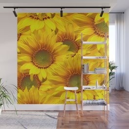 Yellow Mellow Sunflower Bouquet #decor #society6 #buyart Wall Mural