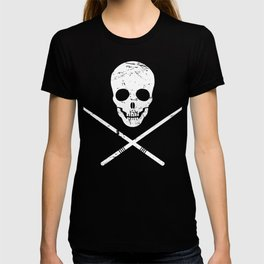 Skull And Drum Sticks | Design For Drummers T-shirt