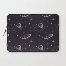 Astro sloth and planet sloth pattern Laptop Sleeve