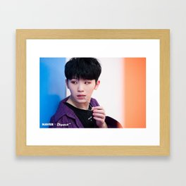Woozi / Lee Ji Hoon - Seventeen Framed Art Print