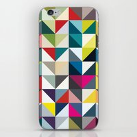 book cover iPhone & iPod Skins featuring 100 book cover colours by Coralie Bickford-Smith