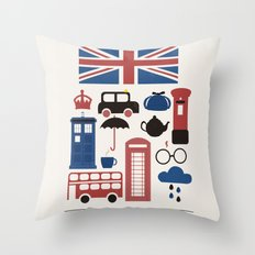 Great Britain - London Throw Pillow