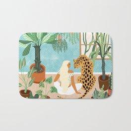 Urban Jungle #illustration #botanical Bath Mat