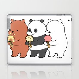 Baby Bears Eating Some Ice Cream Laptop & iPad Skin
