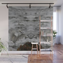 Double Egrets Wall Mural