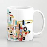 mid century Mugs featuring Mid Century One by Tina Carroll