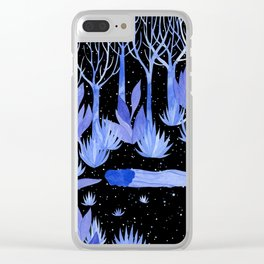 Space garden Clear iPhone Case