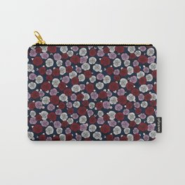 Roses in navy blue, orchid and burgundy red Carry-All Pouch