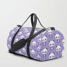 Cute purple baby pandas Duffle Bag
