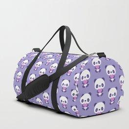 Cute purple baby pandas Duffle Bag