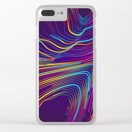 Streaks of Light Clear iPhone Case
