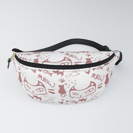 meow meow meow red Fanny Pack