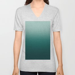 Blue green Ocean Gradient Unisex V-Neck