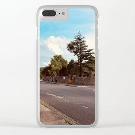 A Visit to the Past Clear iPhone Case