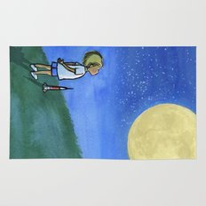 Little Boy and The Man in the Moon Rug