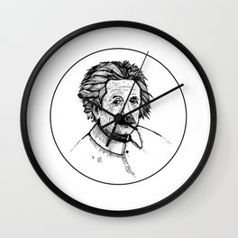 Albert Einstein Portrait Wall Clock