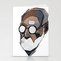 freud Stationery Cards featuring Freud by PAFF
