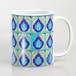 Blue Teardrop Pattern Coffee Mug