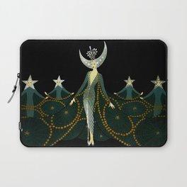 """Art Deco Design """"Queen of the Night"""" Laptop Sleeve"""