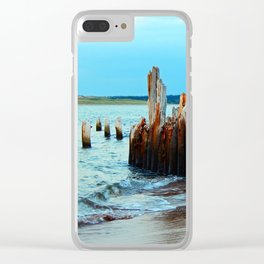 Beach Relics of a Time Gone By Clear iPhone Case