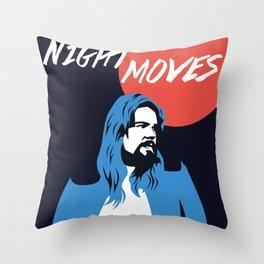 NIGHT MOVES: BOB SEGER Throw Pillow
