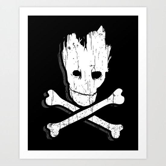 Groot & Bones Art Print
