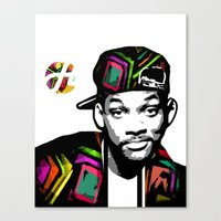 fresh prince Canvas Prints featuring The Fresh Prince by hilbertart