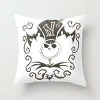 jack Throw Pillows featuring Jack by Andready