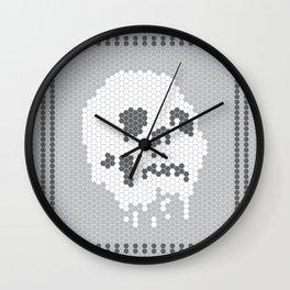 Skull Tile Wall Clock