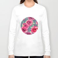 roses Long Sleeve T-shirts featuring roses by Vita♥G