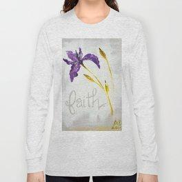 Faith Wild Iris by Ainé Daveéd Long Sleeve T-shirt
