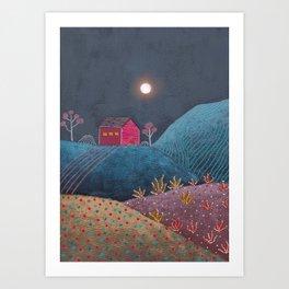 Midnight landscape III Art Print