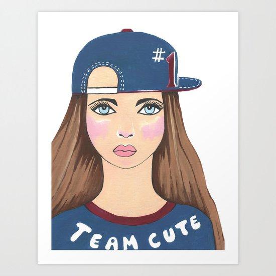 Team Cute Art Print