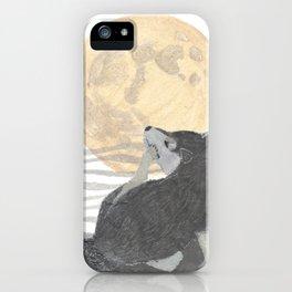SHIBA INU, MOON, DOG iPhone Case