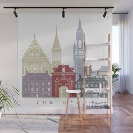 The Hague skyline poster Wall Mural