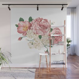 Watercolor rose Wall Mural