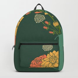 Flower Bouquet in a Vase Backpack