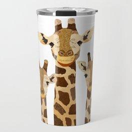Giraffe Collage Travel Mug
