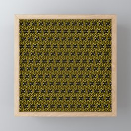 Filmstrip Art Deco Scat Cat Black Silver Copper Design Pattern Framed Mini Art Print